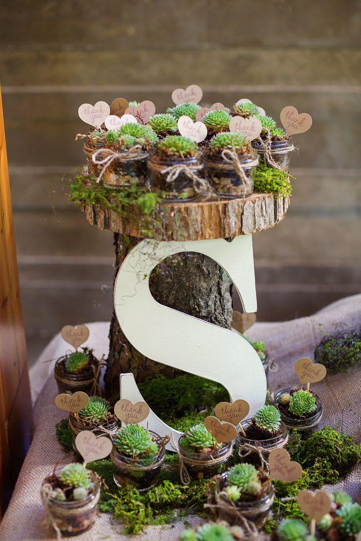 ideas geniales  utilizar las suculentas en tu boda